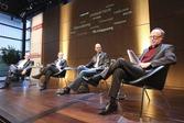 v.l. Denis Scheck, Ursula Gräfe, Hinrich Schmidt-Henkel, Christoph Bungarts (Foto: Jann Wilken)